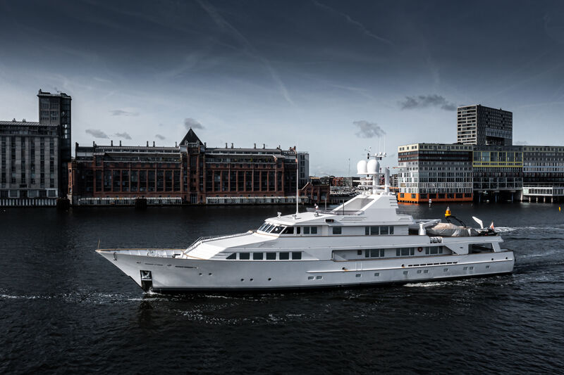 Legacy V yacht cruising in Amsterdam