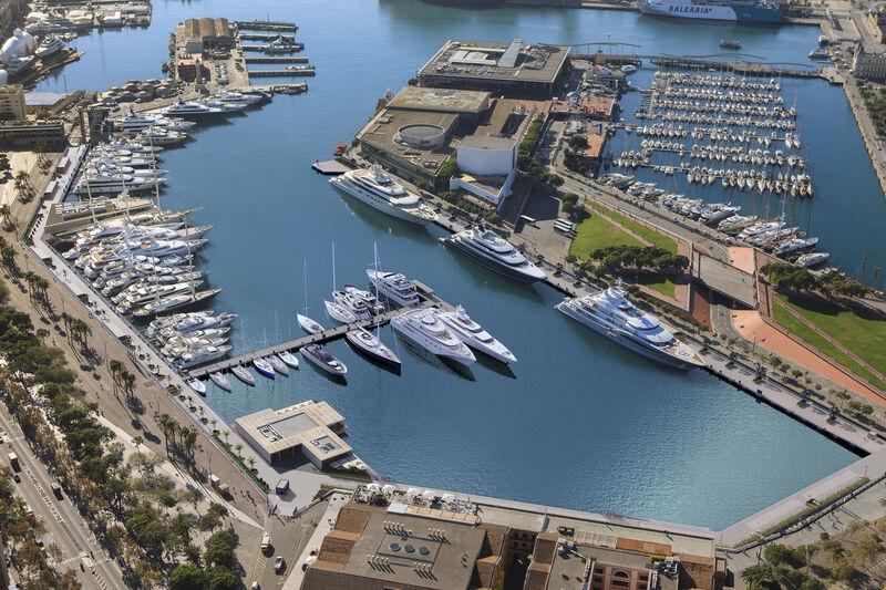 Marina Port Vell arial
