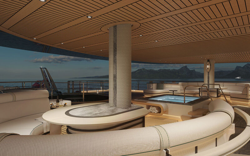 Project Sonata yacht interior render