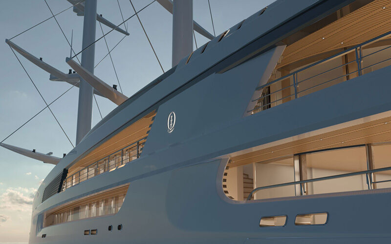 Project Sonata yacht exterior render