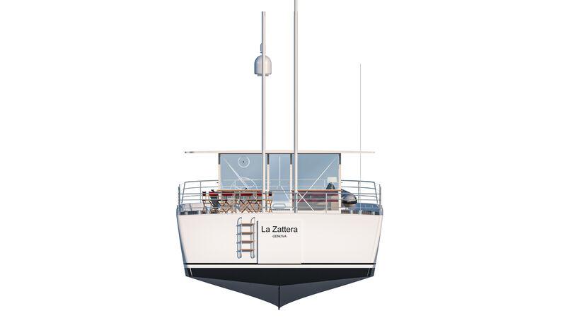 Zattera yacht exterior design