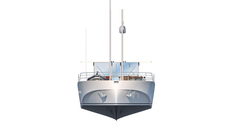 La Zattera yacht exterior design