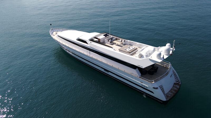 Ixia yacht anchored