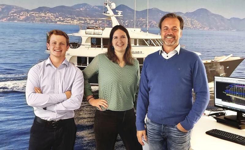 Diana Yacht Design team