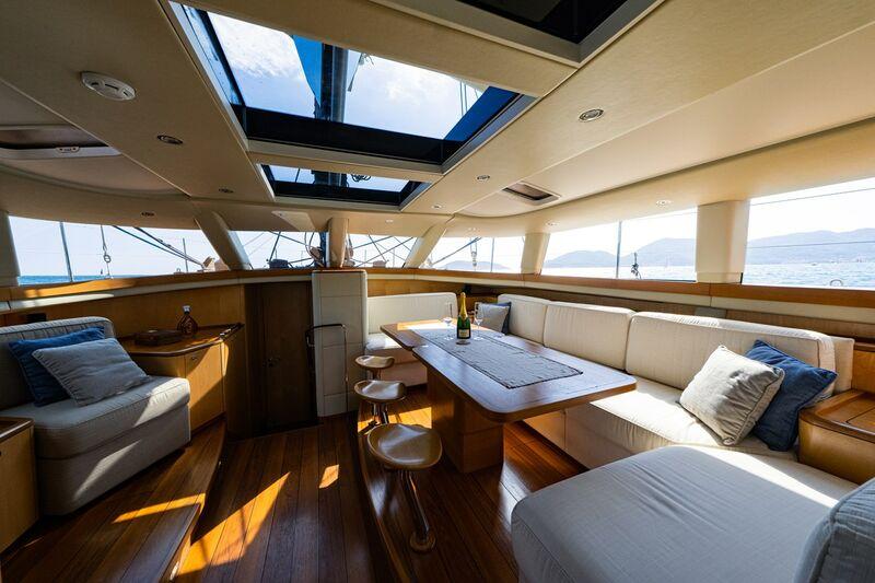 Ivanka yacht saloon