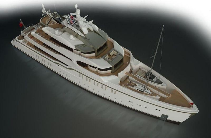 CRN 86m Explorer Yacht rendering by Harrison Eidsgaard