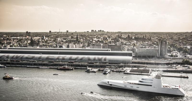 Superyacht A  in Amsterdam