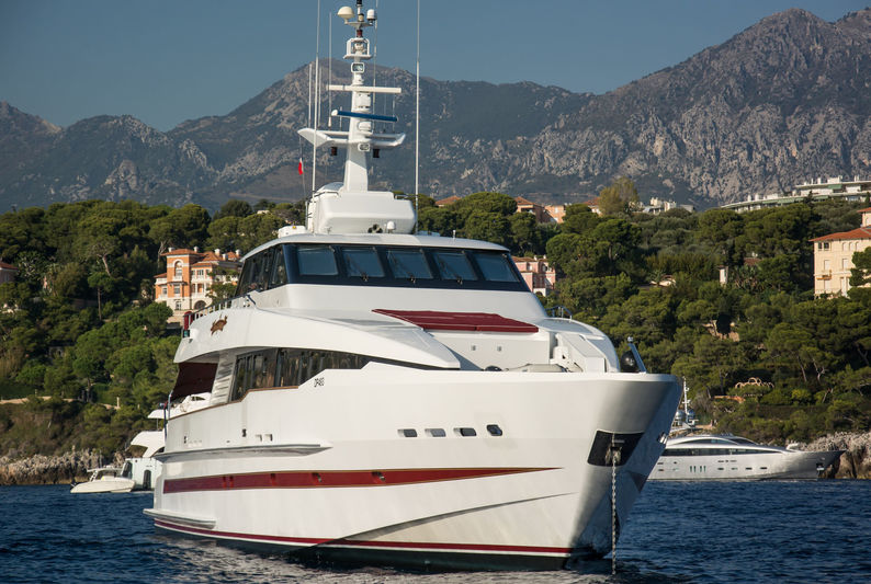 Red Sapphire anchored off Monaco