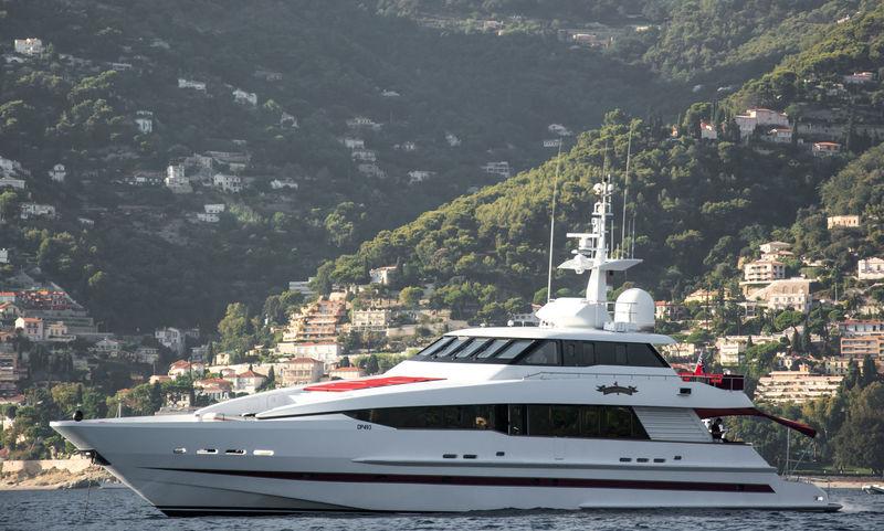 Red Sapphire anchored off Monaco