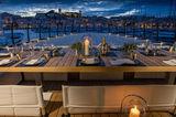 Atlante exterior upper deck dining area furniture