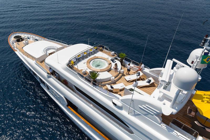 Bina anchored in the Mediterranean