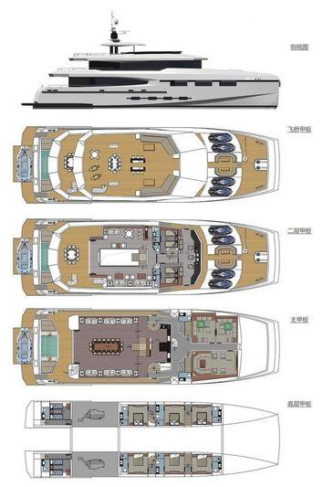 Heysea Yachts 140 Vista layout