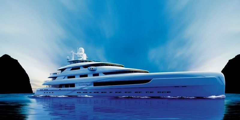 Illussion Plus by Pride Mega Yachts exterior rendering
