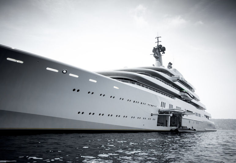 Eclipse anchored off Cannes