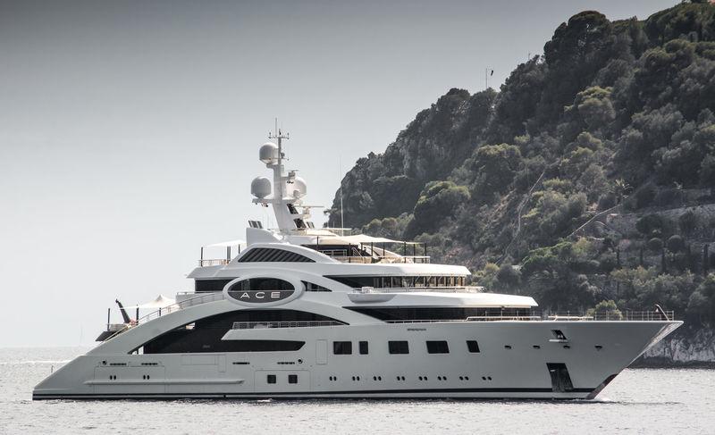 Ace cruising off Villefranche sur mer