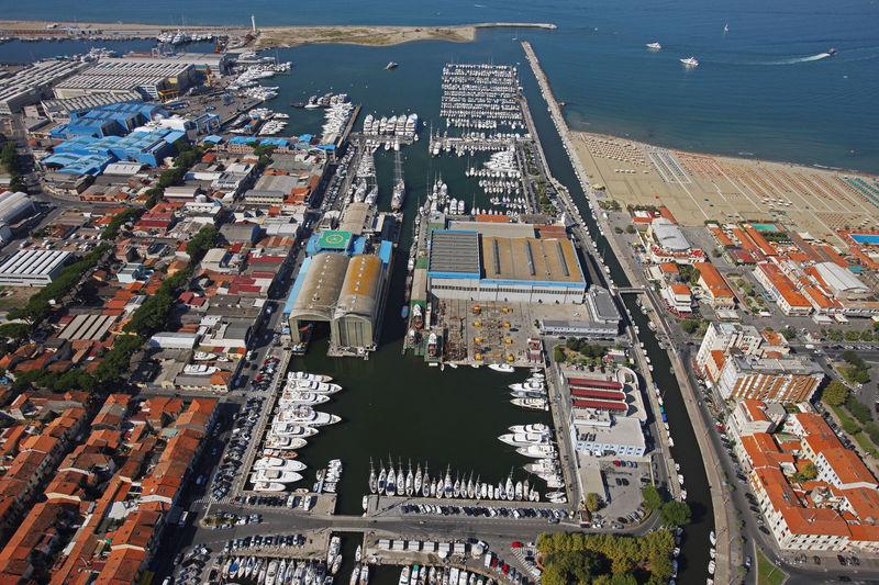 Benetti shipyard facility in Viareggio