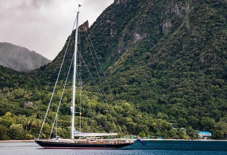 Sailing yacht Atalante in the Caribbean
