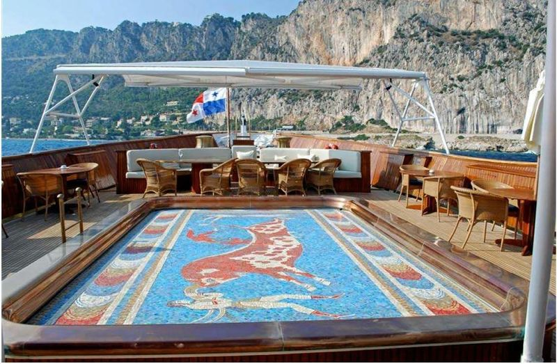 Christina O main deck pool