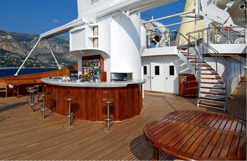 Christina O main deck bar