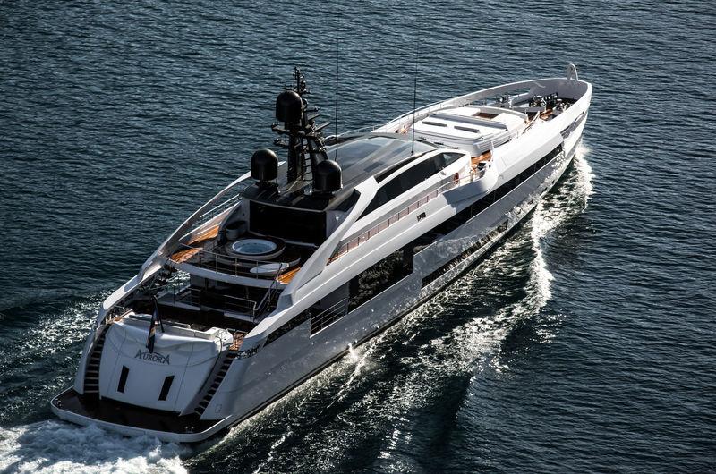 Aurora cruising in the Bay of Kotor