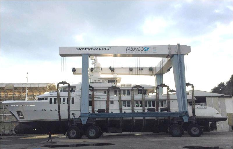 Kinta in winter refit at Palumbo Savona shipyard