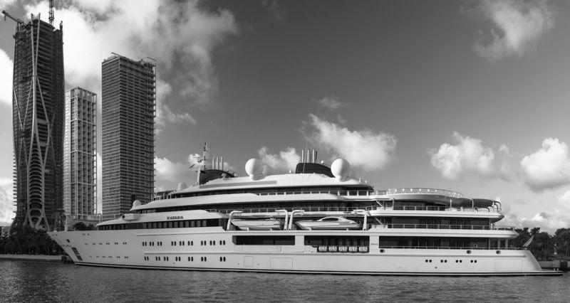 Superyacht Katara in downtown Miami