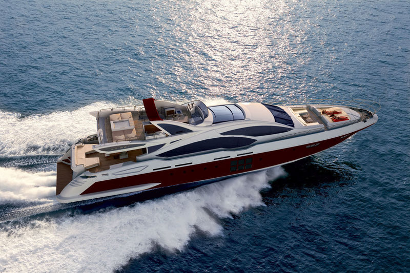Azimut Grande 120SL exterior design