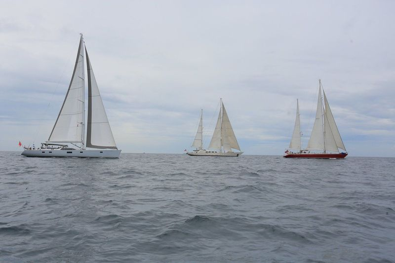 Sailing yachts at ASR 2018 (28.4m Aphrodite,