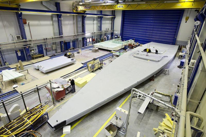 Nautor's Swan shipyard facility in Pietasaari