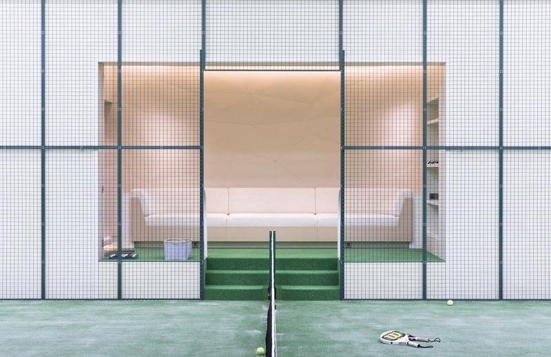 Aviva's padel tennis court