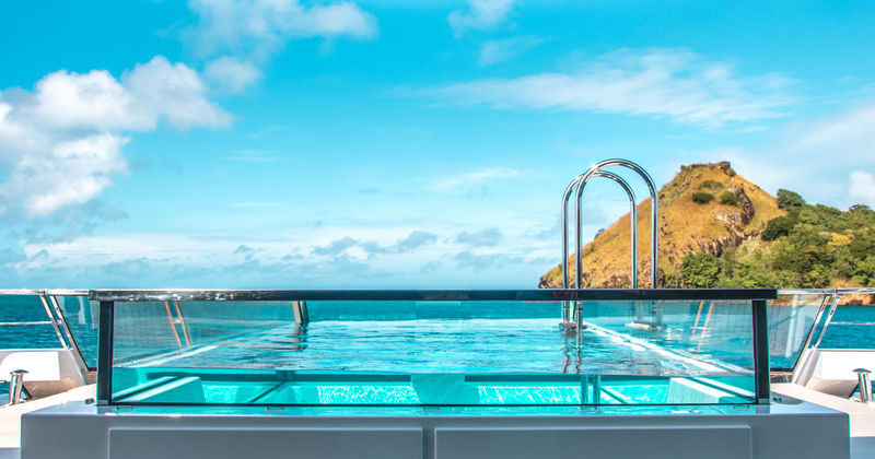 Seven sins swimming pool in St Lucia