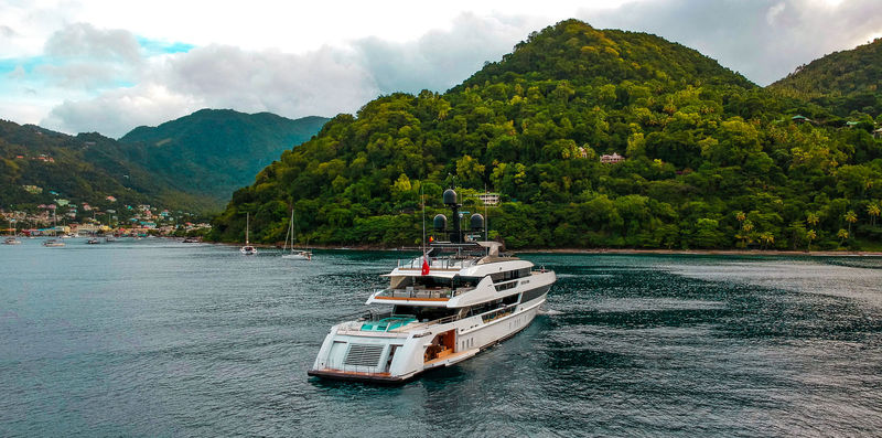 Seven Sins anchored in St Lucia