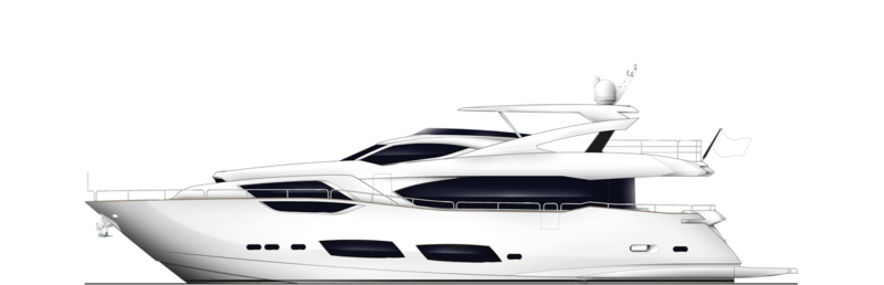 SANITY yacht Sunseeker