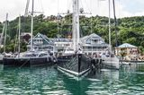 Sailing yachts Cartouche, Drumbeat and Ribelle in St Lucia