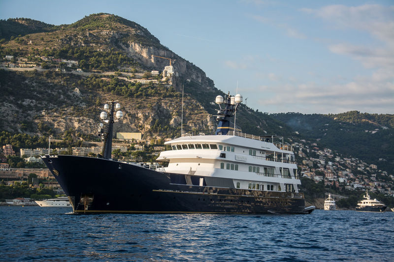 Force Blue anchored off Monaco