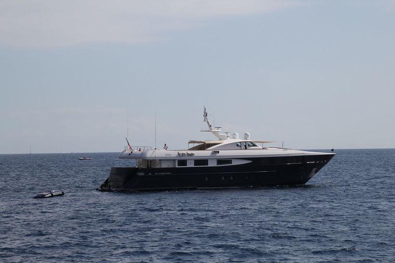 Sophie Blue anchored off  Monaco
