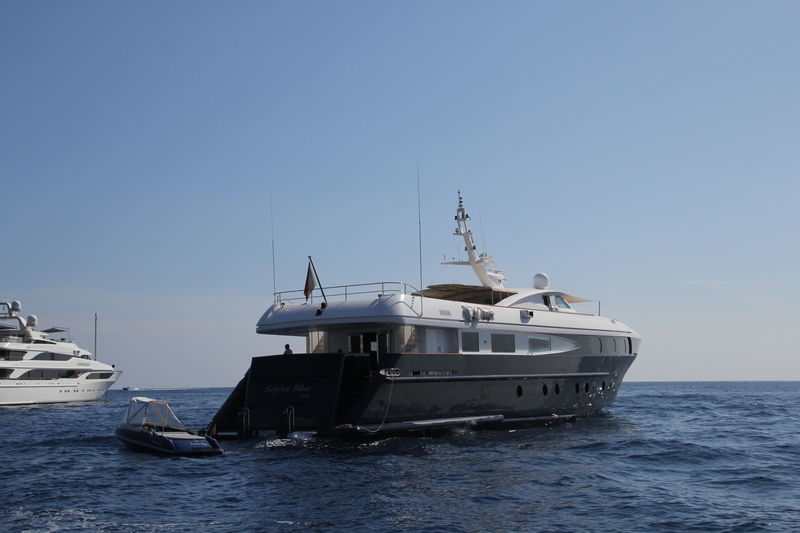 Sophie Blue anchored off  Monaco
