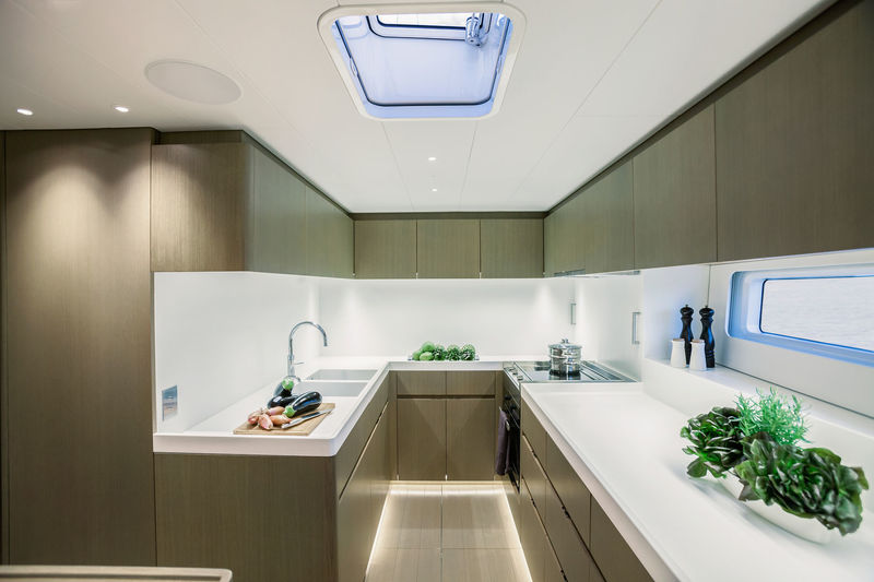 Sailing Yacht Lot99 galley