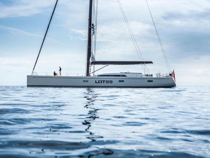 Sailing Yacht Lot99 anchored