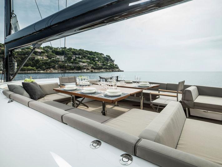 Sailing Yacht Lot99 deck sitting area