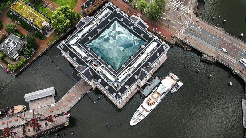 Gene Machine docked alongside the National Maritime Museum