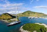 Bayesian arriving in Christophe Harbour St Kitts