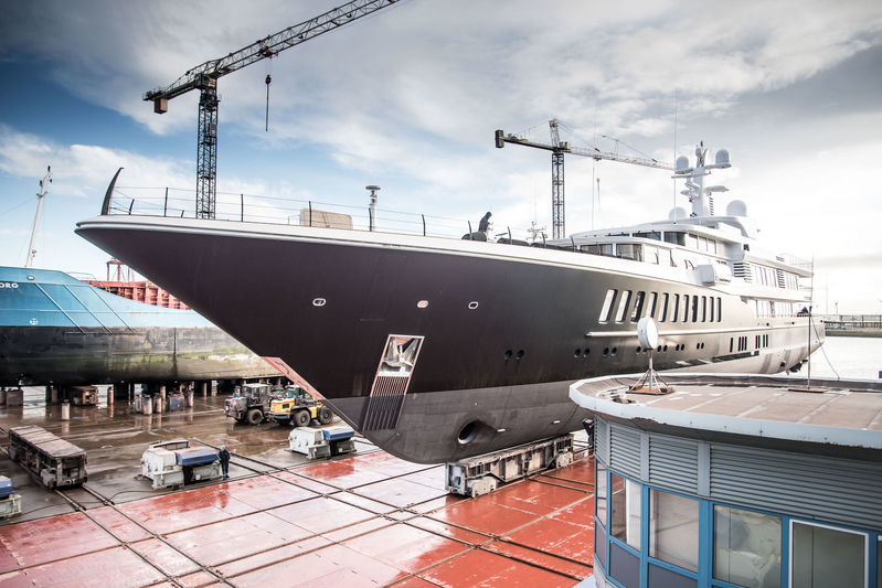 The relaunch of Feadship superyacht Air in Harlingen