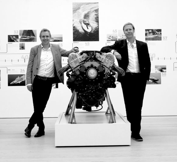 Mike and James at SuperYacht Gallery