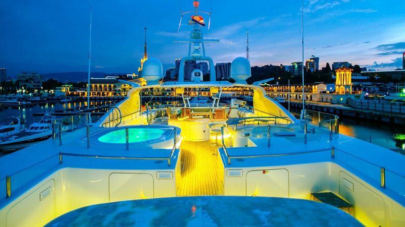 Beluga upper deck at night