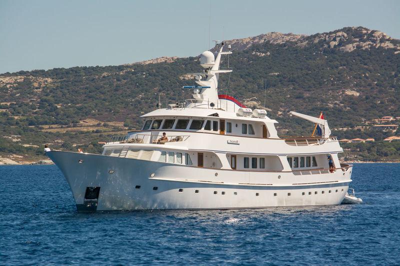 Seawolf anchored off Calvi