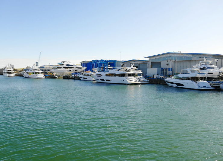 Sunseeker shipyard in Poole