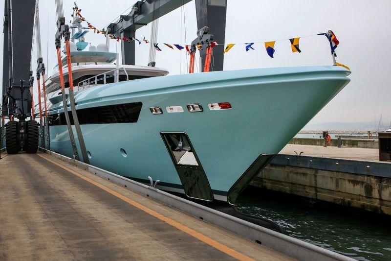 CRN 50M superyacht Latona launch in Ancona