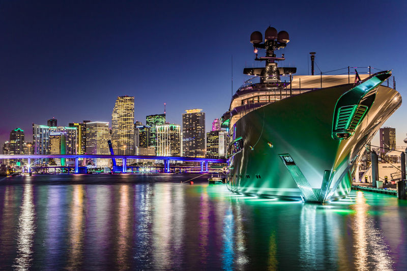 Superyacht Kismet in Miami Beach