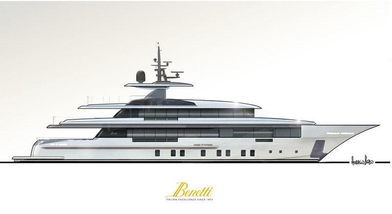 Benetti FB702 Zafiro profile rendering